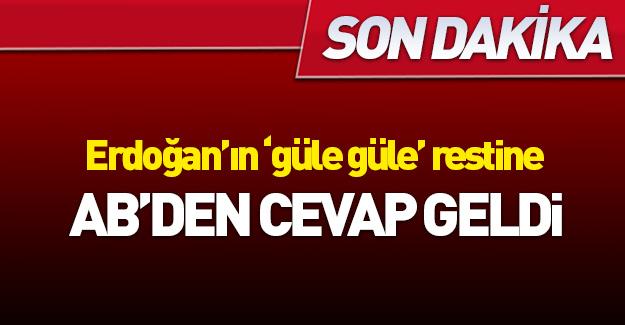 Erdoğan'ın AB restine ilk yanıt geldi!