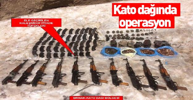 Kato dağında operasyon!