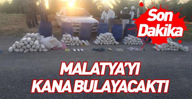 Malatya'ya bombalı eylem için gelen terörist!