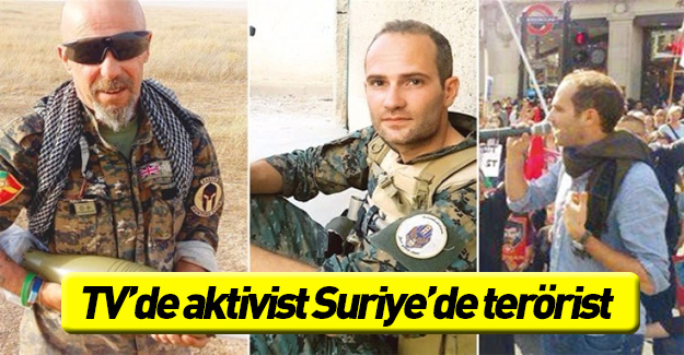 TV'de aktivist Suriye'de terörist