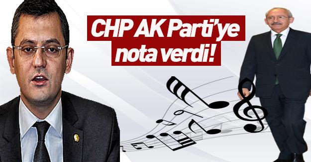 CHP, AK Parti'ye nota verdi