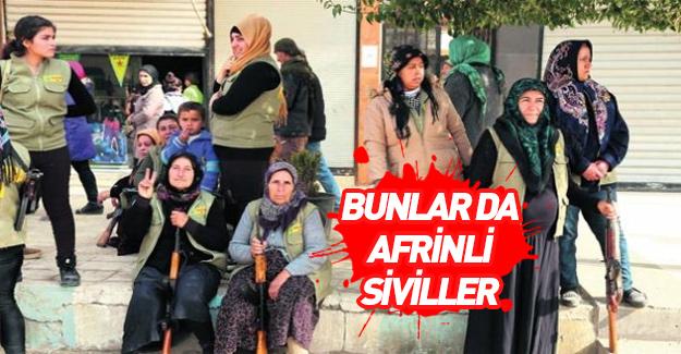 Afrin'de PKK/YPG'nin sivil yalanı