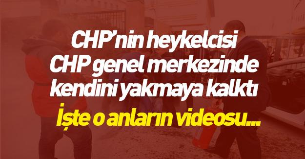 CHP'nin kazıkladığı heykeltraş kendini yakmak istedi