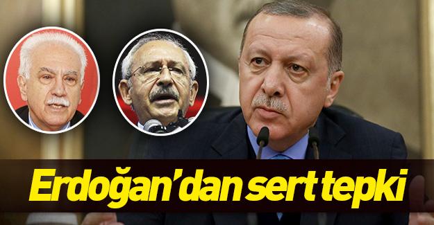 Erdoğan, Perinçek ve Kılıçdaroğlu'nun sözlerine sert tepki gösterdi