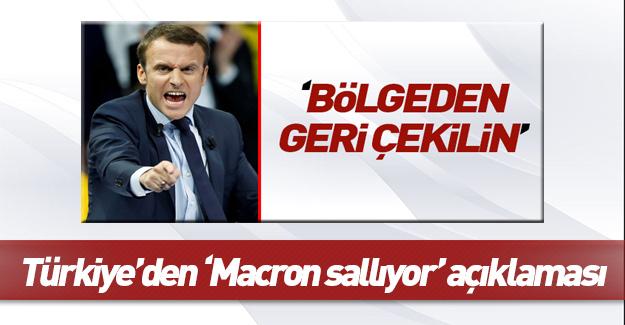 Türkiye'den Fransa'dan gelen sözlere cevap!