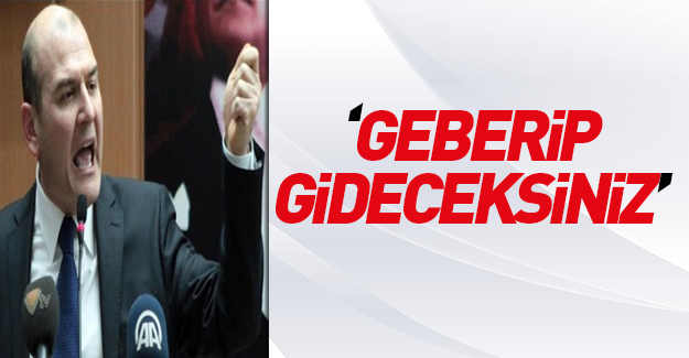 Bakan Süleyman Soylu: Geberip gideceksiniz!