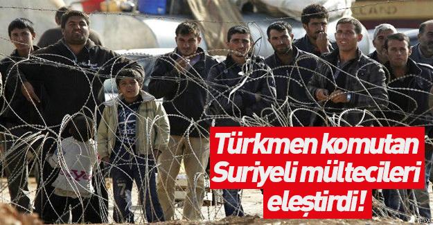Türkmen komutan çok sert konuştu!