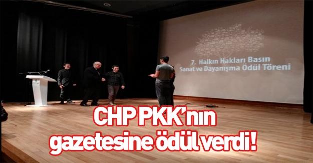 CHP'nin ev sahipliğinde PKK gazetesine ödül verildi