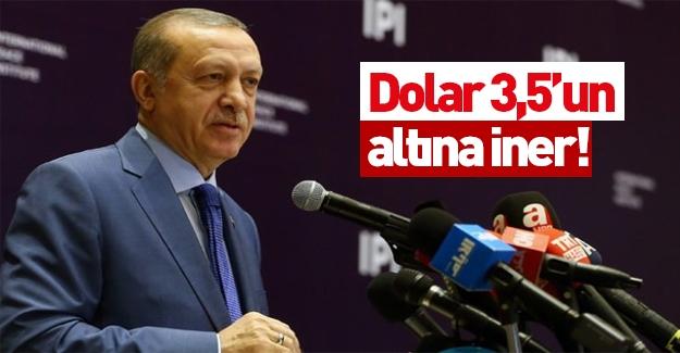 Cumhurbaşkanı Erdoğan: Dolar 3,5'in altına iner