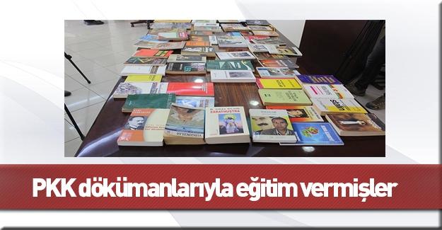 Çocuklara terör örgütü PKK dokümanlarıyla eğitim verilmiş