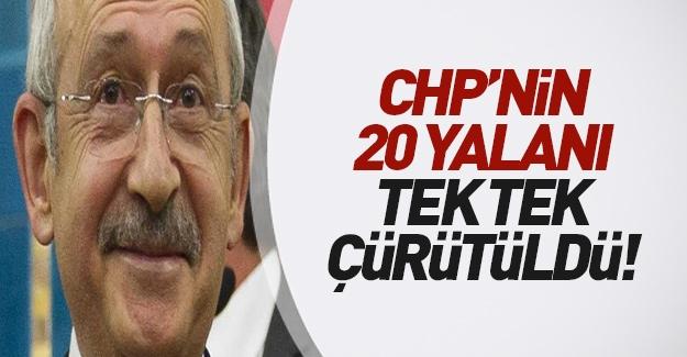 CHP'nin 20 yalanı tek tek çürütüldü