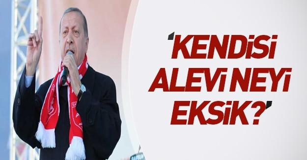 Erdoğan: Kendisi Alevi, siyasi partinin başında, neyi eksik?
