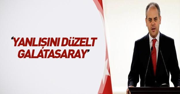 Bakan Kılıç'tan Galatasaray Genel Kurulu'na tepki