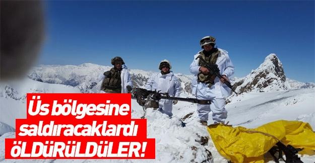 Hakkari'de düzenlenen operasyonda teröristler öldürüldü!