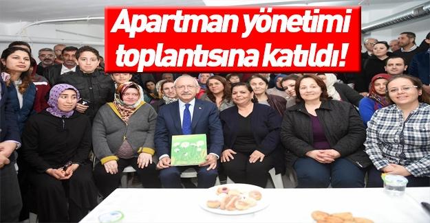 Kılıçdaroğlu apartman yönetimi toplantısına katıldı