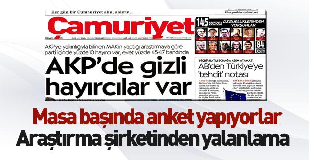 MAK araştırma şirketinden Cumhuriyet'in haberine açıklama