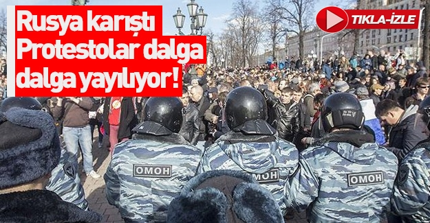 Rusya'da muhalif gösterilere polis müdahalesi