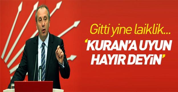 CHP yine dini siyasete alet etti!