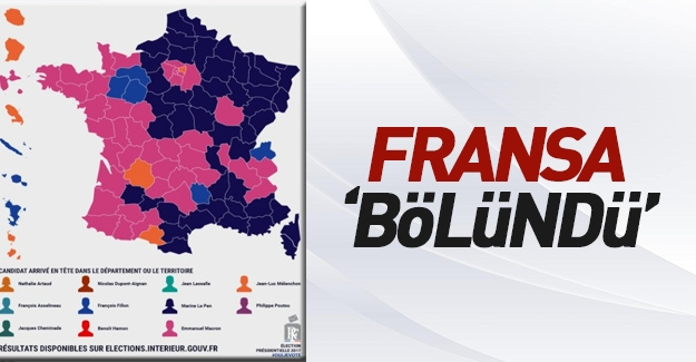 Fransa'nın oy haritası