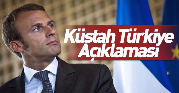 Macron'dan küstah Türkiye açıklaması