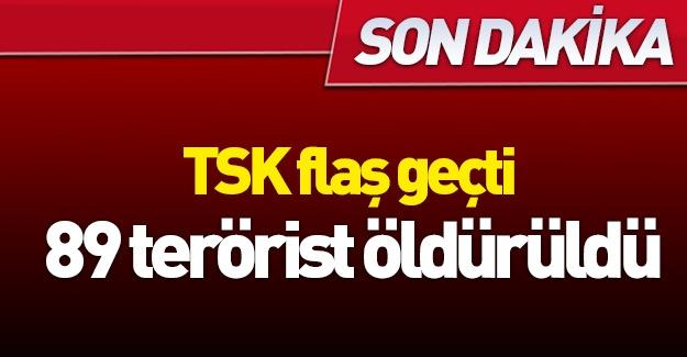 TSK flaş geçti! 89 terörist öldürüldü