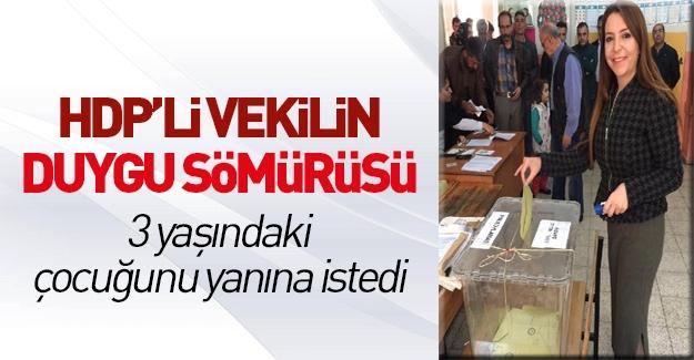 HDP'li vekilin duygu sömürüsü