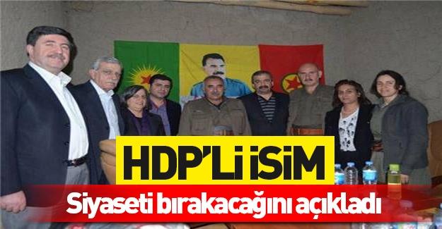 HDP'li isim siyaseti bırakacağını açıkladı!