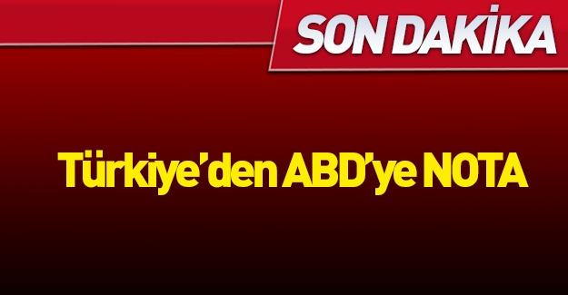 Türkiye'den ABD'ye nota