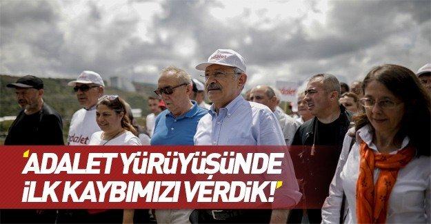Kılıçdaroğlu : Adalet yolunda ilk kaybımızı verdik