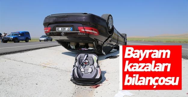Bayram tatilindeki kazalar