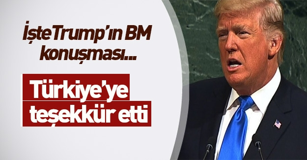 Donald Trump ilk kez BM Genel Kurulu'nda