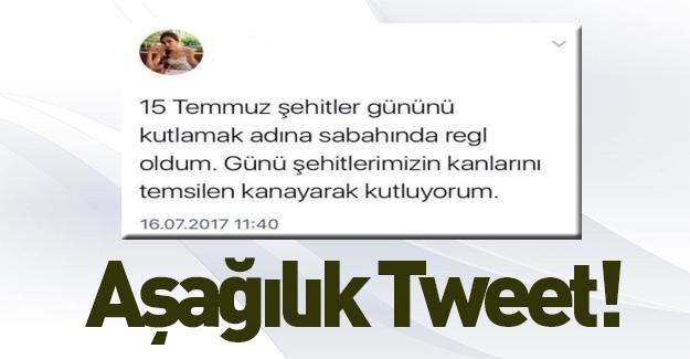 Aşağılık 15 Temmuz Tweeti!