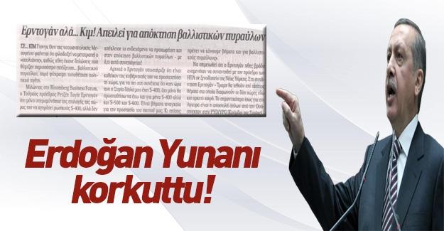 Erdoğan'ın açıklamaları Yunan medyasında