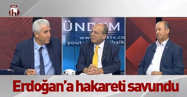 Erdoğan'a hakareti savunan Prof