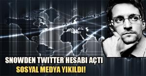 Snowden twitter hesabı açtı, sosyal medya yıkıldı!