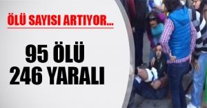 Ankara'da katliam! Ölü sayısı 95'e yükseldi