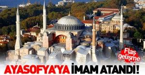 Ayasofya'ya ilk kez asaleten imam atandı