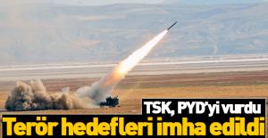 Flaş! TSK, PYD'yi vurdu!