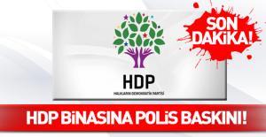 HDP binasına polis baskını