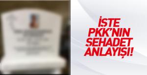 İşte PKK'nın şehadet anlayışı!