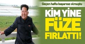 Kuzey Koreli manyak yine füze fırlattı!