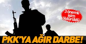 PKK'ya darbe! 3 önemli ismi öldürüldü!
