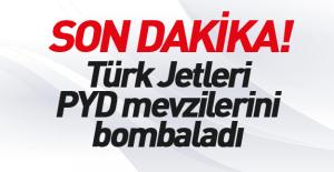 TSK, Suriye#039;de PYD mevzilerini...