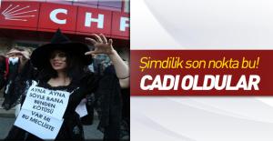 CHP'li kadınlardan cadılı eylem!