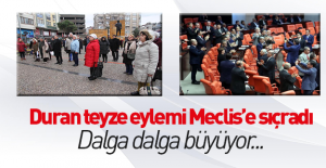 Meclis'te CHP'lilerden 'ayakta durma' eylemi