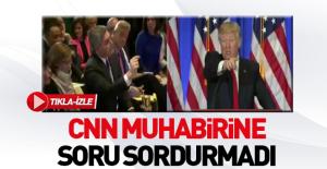 Trump CNN muhabirinin sorusunu almadı
