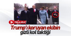 Trump'ı koruyan gizli servis elemanından sahte kol taktiği
