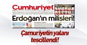Cumhuriyet'in yalan haberi tescillendi