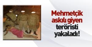 Mehmetçik El Bab'da askılı elbiseli terörist yakaladı