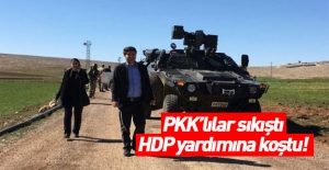 PKK'lılar sıkıştı! HDP yardıma koştu